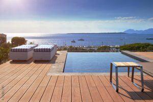 Bambus Terrasse in einem Privat-Haus in Cap d'Antibes