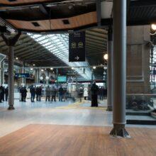 MOSO Bamboo flooring in Railway Station Eurostar Paris Gare du Nord