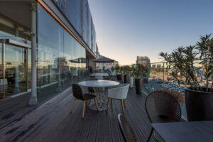 MOSO Bamboo X-treme decking on a terras by Ikea in Oporto