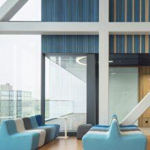 Bamboe vloeren, wanden en vlonderplanken in STC Campus Waalhaven