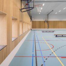 Revestimiento de pared, suelo y terraza de bambu en STC Campus Waalhaven