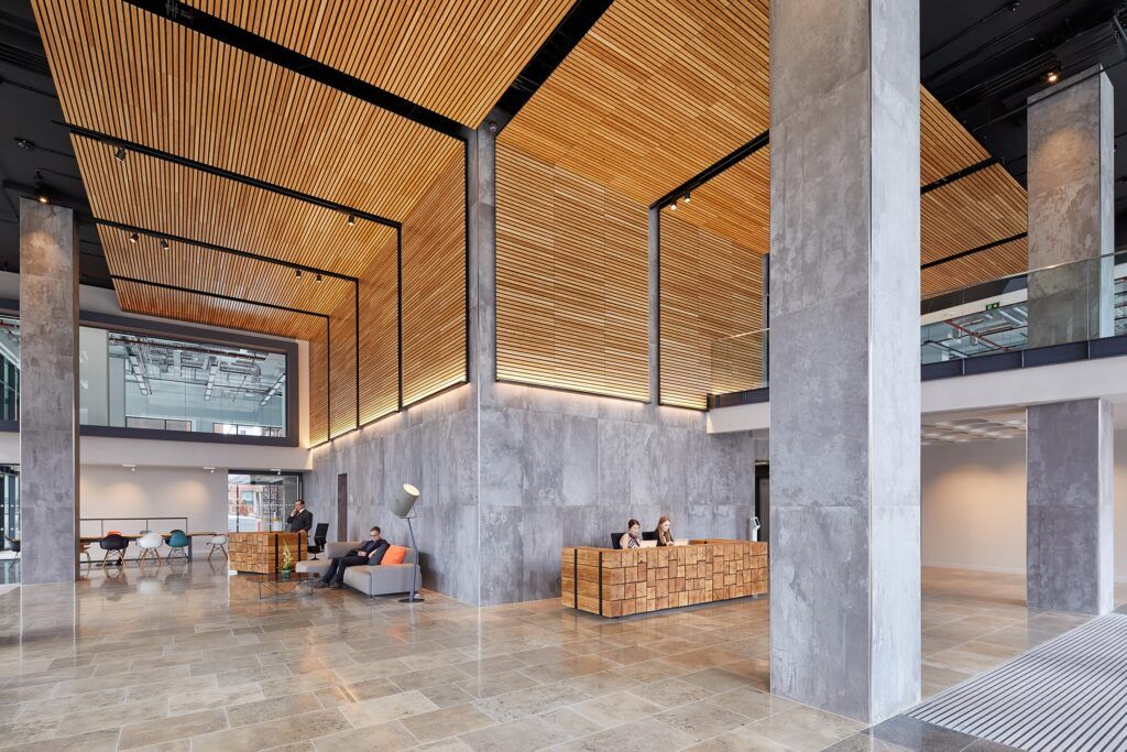 MOSO Bamboo solid beams used in Thames Tower, London