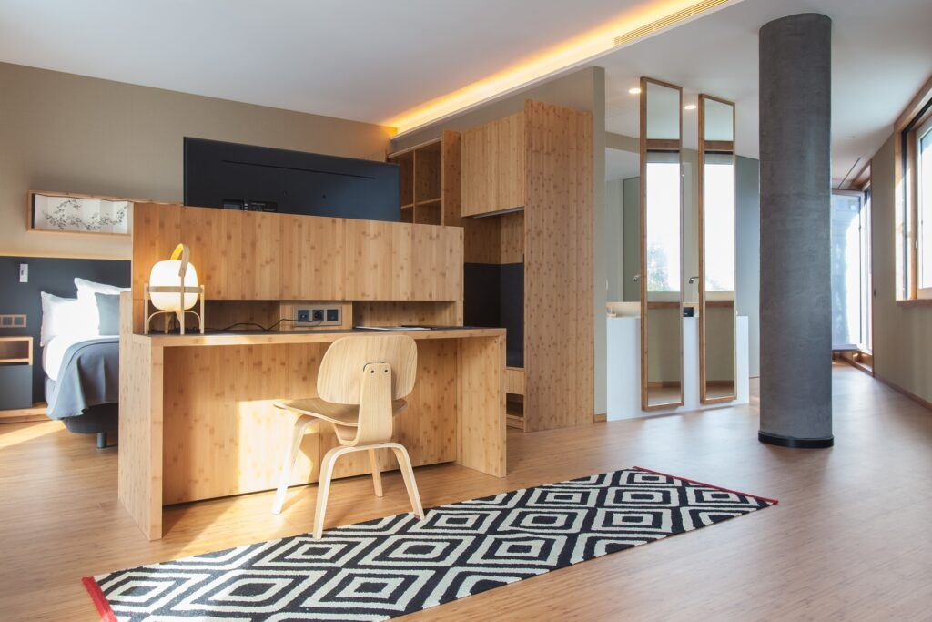 MOSO Bamboo Veneer used at Hotel OD in Barcelona