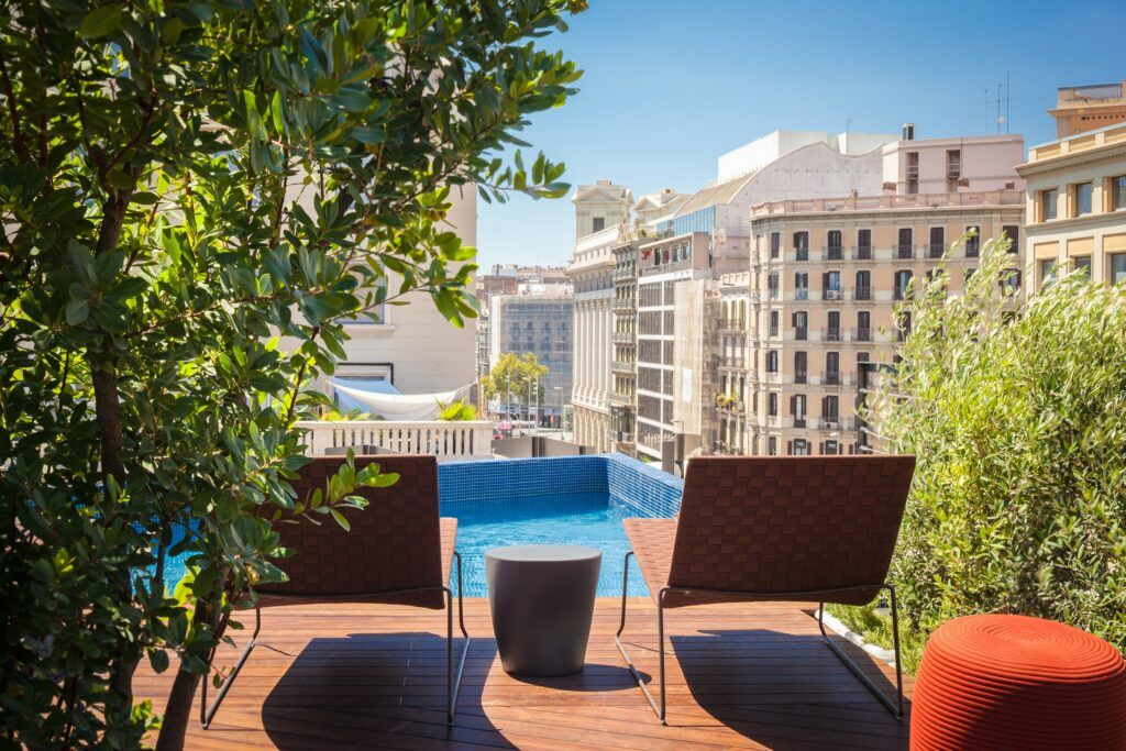 MOSO Bamboo X-treme decking used at Hotel OD in Barcelona