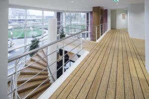 Bamboo flooring, decking, window frames and furniture in Van Oord Gorinchem