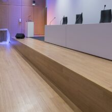 Bamboo flooring in Paris Courthouse