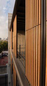 Bamboo shutters at Córdoba 188 Bamboo Folding/Sliding shutters at Córdoba 188