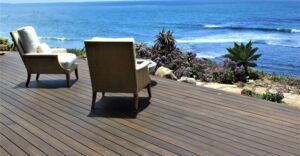Bamboo Terrace at a Private Residence in Solana Beach, California