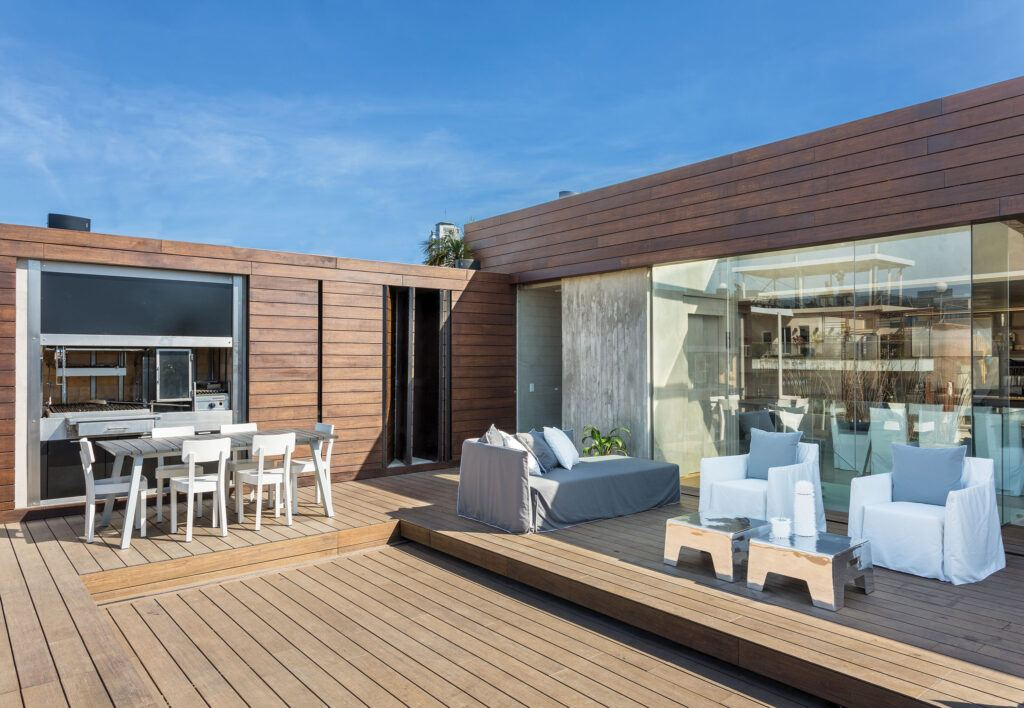 Bamboo X-treme terras and cladding at Private Residence in Buenos Aires