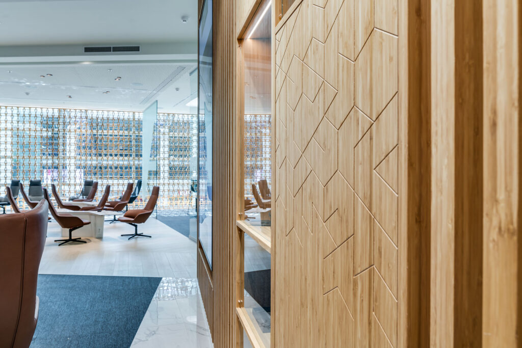 Bamboo Panel applied in Lexus lounge