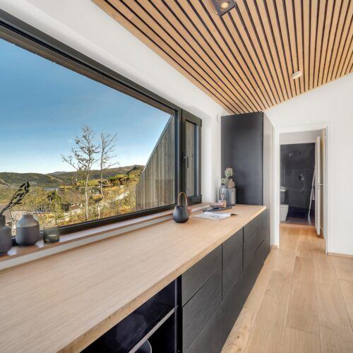 MOSO Bamboo panels used for worktop in Chalet at Gaustatoppen