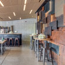 MOSO Bamboo Solid Panel used for worktop in Oasis Restaurant