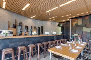MOSO Bamboo Solid Panel used for furniture and worktop in Oasis Restaurant