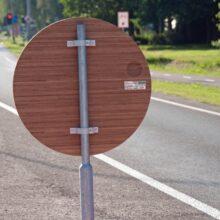 Bamboo traffic sign Coevorden