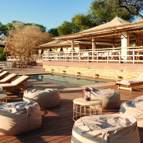 Bamboo decking at safari lodge