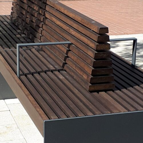 MOSO Bamboo X-treme beams used in outdoor furniture
