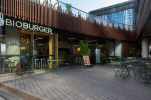 Bamboo X-treme decking at Bioburger in Oxygen