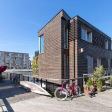 Bamboo X-treme Fassadenelemente bei Schoonschip Amsterdam