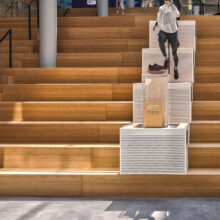 MOSO Bamboo products used in LEED certified bamboo project at Asics