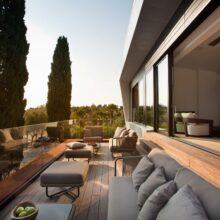 Terraza de bambú MOSO® en Hotel Villa Elena