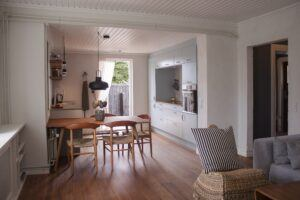 Bamboo flooring and furniture in a Summer House in Denmark