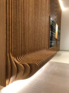 MOSO bamboo solid panels used in a building entrance