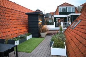MOSO Bamboo Decking used at Roof Garden Amsterdam