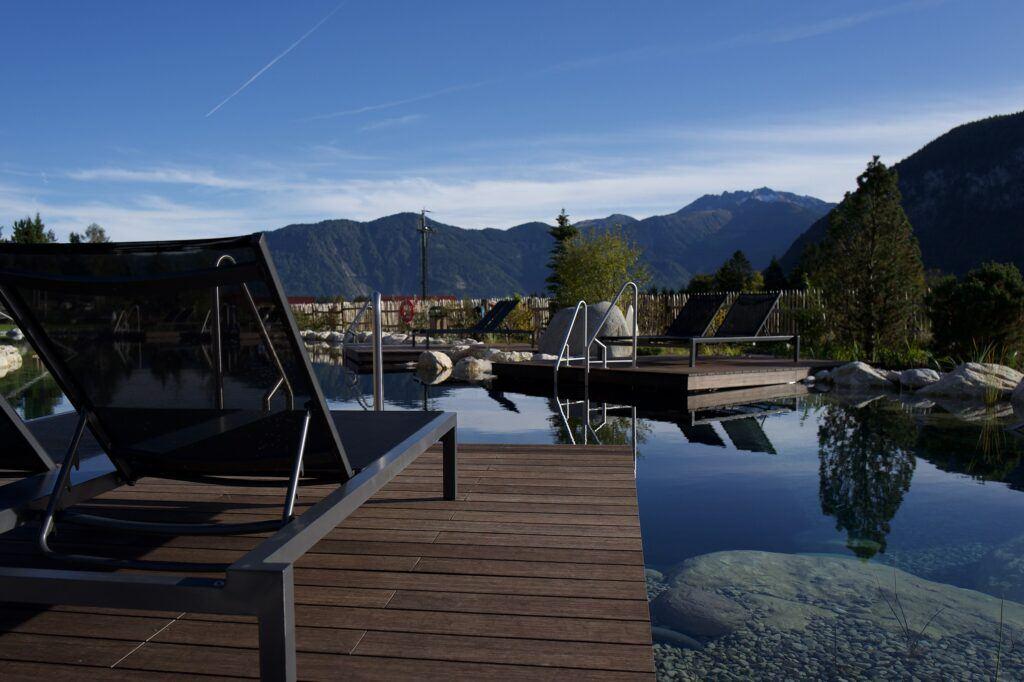 MOSO Bambus Terrassendielen im Alpenrose Hotel