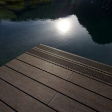 MOSO Bamboo X-treme Decking used in Alpenrose Hotel