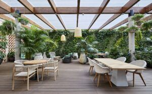 MOSO Bamboo X-treme Decking used at Hotel Barcelona 1882