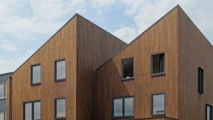 MOSO Bamboo X-treme Fassadenelement geschlossenes Profil in Amsterdam