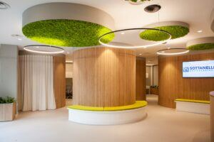 MOSO Flexbamboo wall covering used at Sottanelli Assicurzioni