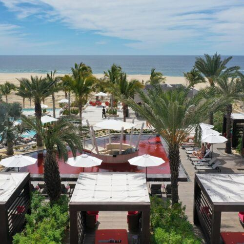 MOSO® Bamboo X-treme® Decking has been installed around the Red Pool at the Hard Rock Hotel Los Cabos in Mexico