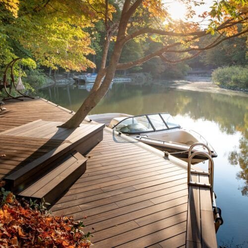 MOSO® Bamboo X-treme® decking used for a dock at a private residence