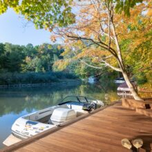 MOSO® Bamboo X-treme® decking used for a dock at a private residence at Candlewood Lake, Ohio