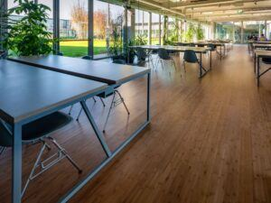 MOSO Bamboo Flooring used at the H Farm campus in Venice, Italy
