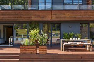 MOSO Bamboo Decking used at the Booa Showroom in France