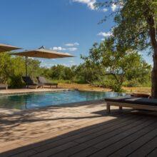 bamboo deck at safari lodge Imagine Africa