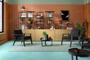 MOSO Bamboo Solid Panels used to create furniture at Frövi Bamboo Collection
