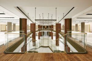 MOSO Bamboo UltraDensity durable flooring used at the Commercial centre Canalejas in Madrid