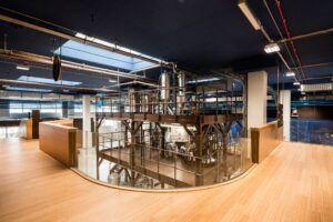 Paneles de bambú MOSO y suelo Elite utilizados en el 1895 Coffee Designers by Lavazza en Turín, Italia