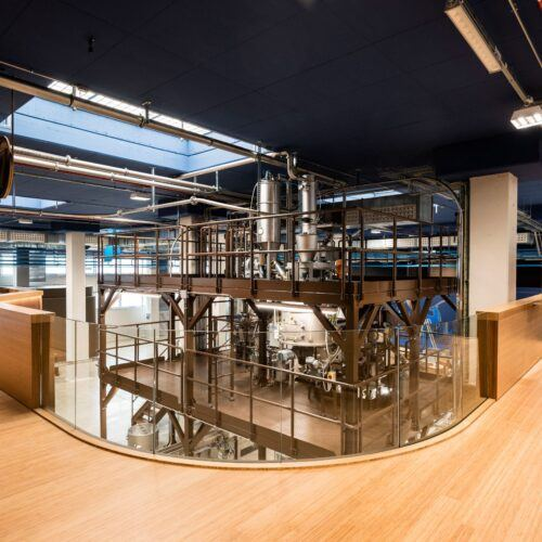 MOSO Bamboo Panels and Elite Flooring used at the 1895 Coffee Designers by Lavazza in Torino, Italy