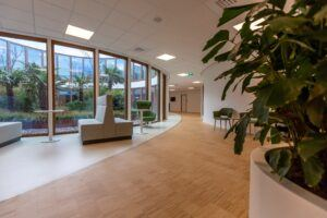 MOSO Bamboo Industriale Flooring and Solid Panels at the Oogcentrum (Eye Centre) Noordholland