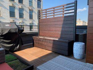 MOSO Bamboo X-treme Deck Tiles used on this balcony in Philadelphia