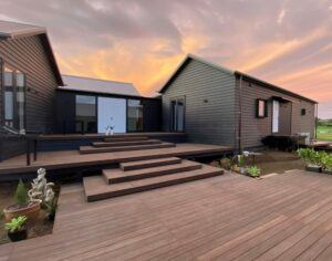 MOSO Bamboo X-treme Decking used at the Richmond villa in New Zealand