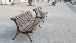 Städtische Außenmöbel der Stadt Marseille von MOSO Bambus X-treme