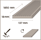 MOSO bamboo x-treme outdoor decking 137 dimensions