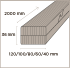 MOSO Bamboo N-finity beam