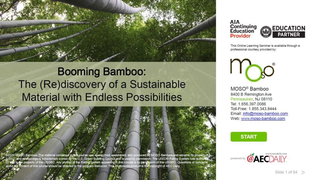 Booming bamboo training